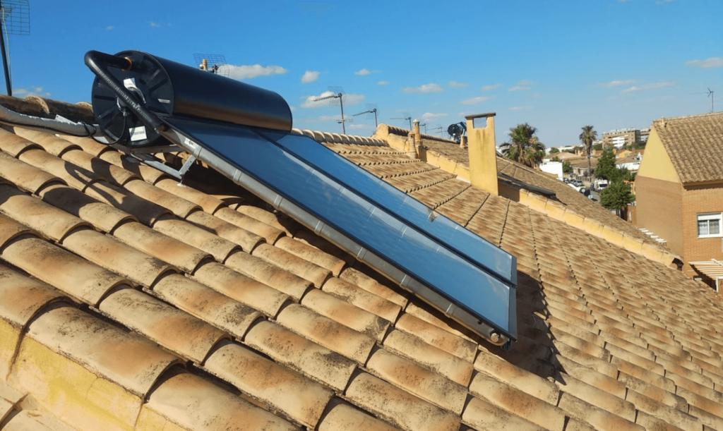 placa solar agua caliente